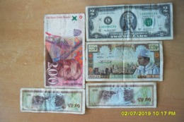 Lot De 5 Billets/5 Dihram Sans Date(Banque Du Maroc)+Divers Billets(plus Beau Que Photos).Pas Déchirés... - Maroc