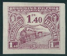 TR118 (*) Proef Van De Plaat - Donker Wijnrood Op Gewoon Wit Papier - Ongetand - Essais & Réimpressions