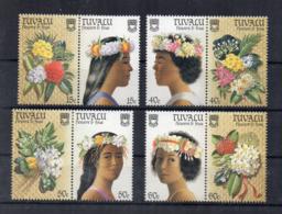 TUVALU - 1987 - Fiori E Volti Di Donne - 4 Valori - Nuovi - Linguellati - (FDC16986) - Tuvalu