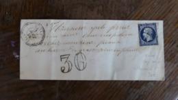 20/09/19-LSC  De Rohan(54),cachet Perlée, Taxe Tampon  30  Cassé,pour Le Havre De Grasse. Rare!! - Postmark Collection (Covers)
