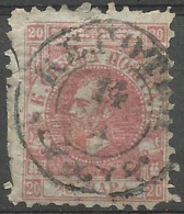 Serbia - 1866-9 Ptince Michael 20p Rose-red (thin Paper)   Sc 12 - Serbia