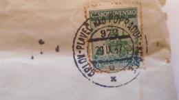 D168179  Czechoslovakia  Cover  TPO -Railway Post -BAHNPOST - Orlov-Plaveč Nad Popradom-Kosice  Ca 1937 - Briefe U. Dokumente