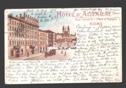 Roma / Rome - Hôtel D'Allemagne - Rue Condotti - Place D'Espagne - 1903 - Cafés, Hôtels & Restaurants