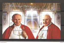 POLONIA - 2014 Canonizzazione Di Papa GIOVANNI XXIII E Papa GIOVANNI PAOLO II  Nuovo** MNH Papa Pope Papst Pape - Papas