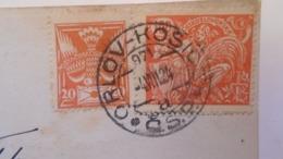 D168180  Czechoslovakia  Postcard SABINOV-   TPO -Railway Post -BAHNPOST - Orlov-Kosice   1924 - Covers & Documents