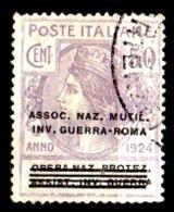 Italia-A-0660: ENTI PARASTATALI 1924 (o) Used - Senza Difetti Occulti. - 1900-44 Vittorio Emanuele III
