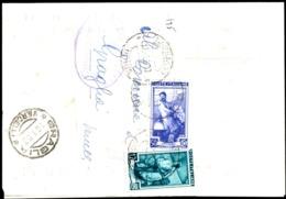 PIEGO COMUNALE DA BASILIANO (UD) A GRAGLIA (BI) - SPEDITO IL 13.1.1953 - 1946-60: Marcophilia
