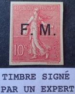 R1615/1126 - 1906 - TYPE SEMEUSE - F.M. - N°4b NEUF(*) LUXE ☛ Signé BRUN Expert - Cote : 200,00 € (timbre Toujours SG) - Franchigia Militare (francobolli)