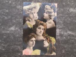 Carte Avec 5 Dames Elegantes Reutlinger - Femmes