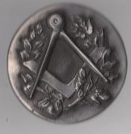Vrijmetselarij, Franc Maçonnerie, Médaille Maçonnique , Prachtige Grote Oude Medaille, COLLECTORS!!!! - Andere