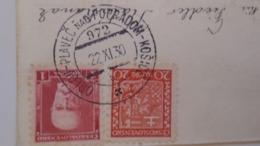D168188 Czechoslovakia  Postcard - Birds  - TPO -Railway Post - Orlov-Plaveč Nad Popradom-Kosice Ca 1930 - Covers & Documents