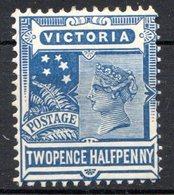 VICTORIA - (Confédération Australienne) - 1901-04 - N° 131 - 2 1/2 P. Bleu - (Victoria) - 1850-1912 Victoria