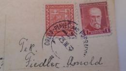 D168191 Czechoslovakia  Postcard   - TPO -Railway Post - Orlov-Plaveč Nad Popradom-Kosice Ca 1932 - Briefe U. Dokumente