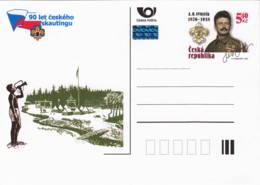 TCHEQUIE -  2002 - Entier Postal Neuf - 90 Ans De Scoutisme Tchèque - Entiers Postaux