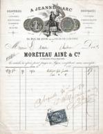 """1879 - LYON - """"A JEANNE D'ARC Uniformes Militaires, De Magistrature & De Lycée - MORETEAU Aîné & Cie - Historische Documenten"""