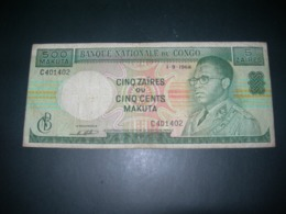 Congo 500 Makuta 5 Zaires - Congo
