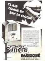 """PUB RADIO SUPERHETERODYNE 7 LAMPES  """" SONORA  """"   1932 ( 2 ) - Radio & TSF"""