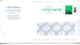 Pap Monument Paris Flamme  Muette Bleue Entete Edition Aedis Vichy - Ganzsachen
