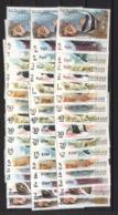 1966  SHARJAH  FISHES MNH Complete Set 17 Values + Same Red OVPT + Same Black OVPT - Difficult To Find - Arabia Saudita