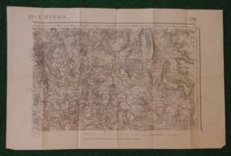Carte Géographique De Type 1889 - Saint-Agnan - Champeau - Saulieu - Saint-Martin De La Mer Et Environs - Cartes Géographiques