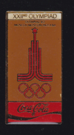 60043-Pin's.coca Cola.Jeux Olympiques.Moscou.Russie... - Coca-Cola