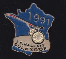 60062-Pin's. Tiercé Jean Claude Hallais.sulky D Or..jeux.cheval. - Jeux