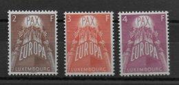 LUXEMBOURG - EUROPA 1957 - YVERT N° 531/533 ** MNH - COTE = 150 EUR. - Luxemburg