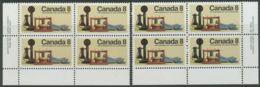 CANADA 1974 100 Years Telephone Superb U/M Block Of Four VARIETY: WRONG COLOURS - Varietà & Curiosità