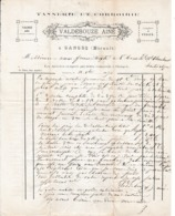 1870 - GANGES - TANNERIE & CORROIRIE - VALDEBOUZE Aîné - - Documents Historiques