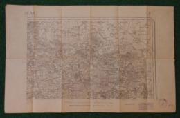 Carte Géographique De Type 1889 - Antoing - Orchies - Condé Sur L'Escaut - Raismes Et Environs - Cartes Géographiques