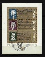 DDR - Block Mi-Nr. 81 - 300. Geburtstag Bach - Händel + 400. Schütz Ersttags-gestempelt (2) - [6] République Démocratique