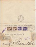 Civitavecchia. 1930. Annullo Guller CIVITAVECCHIA N° 1 *P. CALAMATTA* Su Lettera Raccomandata  R.R. Affrancata - Marcophilie