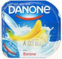 """Opercule Cover Yaourt Yogurt """" Danone """" Banane Banana Yoghurt Yoghourt Yahourt Yogourt - Koffiemelk-bekertjes"""