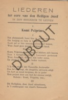 LEUVEN/LOUVAIN Liederen Heiligdom Heilige Jozef 1909 (R223) - Oud