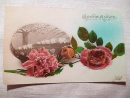 Cpa Art Deco Fantaisie Boite à Bonbon Chocolat Dragée Elephant Fleur Rose Postcard Candy Box Carte Postale Ancienne - Éléphants