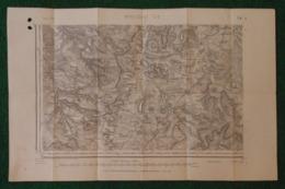 Carte Géographique De Type 1889 - Clinchamp - Saint-Ouen Lès Parey - Val De Meuse Et Environs - Cartes Géographiques