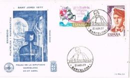 33967. Carta BARCELONA 1977. SANT JORDI, Jacint Verdaguer - 1931-Hoy: 2ª República - ... Juan Carlos I