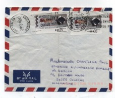 Spain ADHESIVE AIRMAIL COVER TO Germany 2002 - 2001-10 Storia Postale