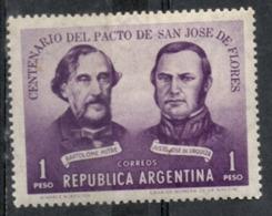Argentina 1959 - Trattato Di San José De Flores Bartolomé Mitre Justo José De Urquiza MH * - Storia