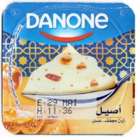 "Opercule Cover Yaourt Yogurt "" Danone "" Figue - Miel Fig - Honey - Yoghurt Yoghourt Yahourt Yogourt - Opercules De Lait"