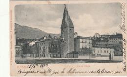 TRENTO D'EPOCA DETTAGLI TORRE VERDE ANNO 1905 FTO PICCOLO VIAGGIATA - Trento
