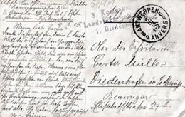 CACHET MILITAIRE   DE THIONVILLE    SUR CARTE PHOTO MILITAIRES - War 1914-18