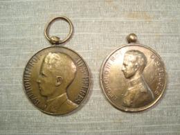 2 Medals  2 MÉDAILLE . BELGIQUE . BELGIË . LEOPOLD III BAUDOUIN ROI (C.CRISTIANISM) - Royal / Of Nobility