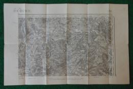 Carte Géographique De Type 1889 - Removille - Gircourt Lès Viéville - Saulxures Lès Bulgnéville - Frénois Et Environs - Cartes Géographiques