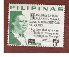 FILIPPINE (PHILIPPINES) - SG 1065 -  1968  E.R. QUIRINO (OVERPRINTED)   - USED ° - Filippine