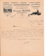 1924 - AVERON-BERGELLE (32) - Exploitations Forestières - Hyacinthe MATHIO - Entreprise De Battage, Scierie Etc. - Documents Historiques