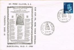 33972. Carta Exposicion BARCELONA 1980. Sant PERE CLAVER - 1931-Hoy: 2ª República - ... Juan Carlos I
