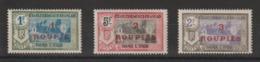 Inde 1923 Temple 75 à 77 3 Val ** MNH - Indië (1892-1954)