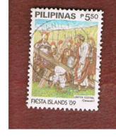 "FILIPPINE (PHILIPPINES) - SG 2155 -  1989  ""FIESTA ISLANDS '89"": CENACULO  - USED ° - Filippine"