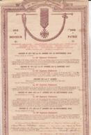 CITATION A L ODRE SOLDATS DU 401 EME REGIMENT POUR COMBATS SOMME ET VERDUN - 1914-18